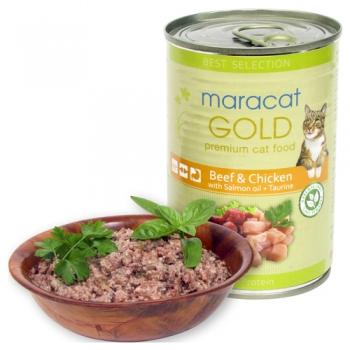 Maracat Gold vita si pui 400 g