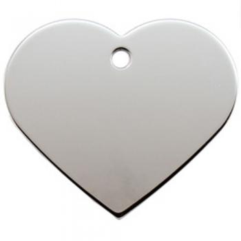 Medalion Tag cu Gravare Gratuita, Inima Cromat S
