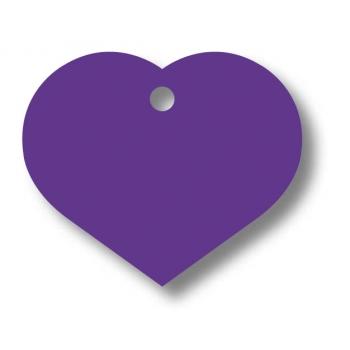 Medalion Aluminiu Inima Violet Large