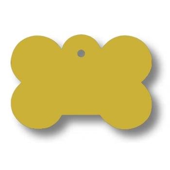 Medalion Aluminiu cu Gravare Gratuita, Os Auriu Small