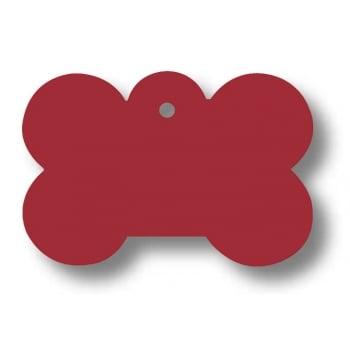 Medalion Aluminiu cu Gravare Gratuita, Os Rosu Large