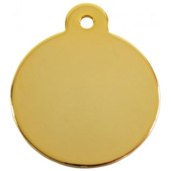 Medalion Rotund cu Gravare Gratuita, Gold Small