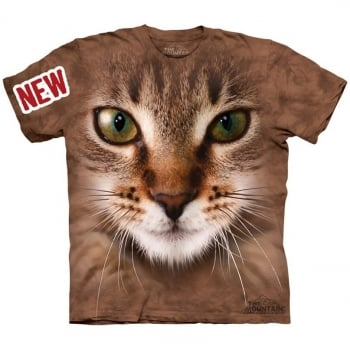Tricou la Conserva Striped Cat Face L