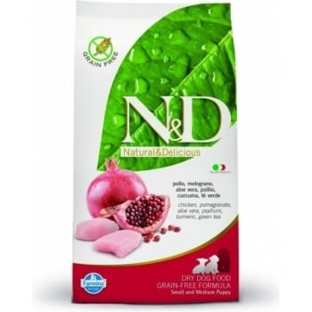N&D Grain Free Puppy Small & Medium Pui si Rodie, 7 kg