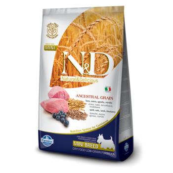 N&D Ancestral Grain Dog Adult Mini cu Miel, Ovaz si Afine, 2.5 kg