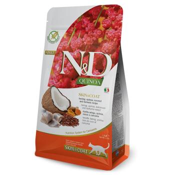 N&D Cat Adult Skin & Coat, Herring si Quinoa, 1.5 kg