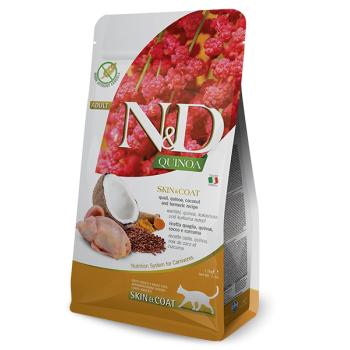 N&D Cat Adult Skin & Coat, Prepelita si Quinoa, 1.5 kg