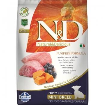 N&D Grain Free Puppy Mini Miel, Afine Si Dovleac, 7 Kg imagine