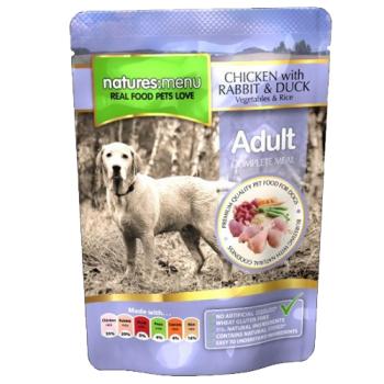 Natures Menu Adult Dog cu Pui  Iepure si Rata 300 g