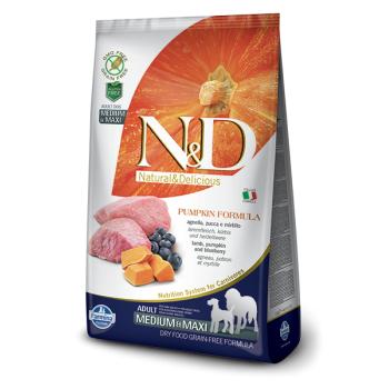 N&D Grain Free Adult Medium&Maxi Miel, Afine si Dovleac, 12 kg