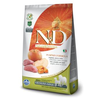 N&D Grain Free Adult Medium si Maxi Mistret, Mar si Dovleac, 12 Kg