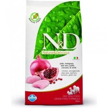 N&D Grain Free Adult Pui si Rodie 7 kg