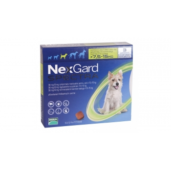 Nexgard Spectra M, 7.5-15 kg, 3 comprimate