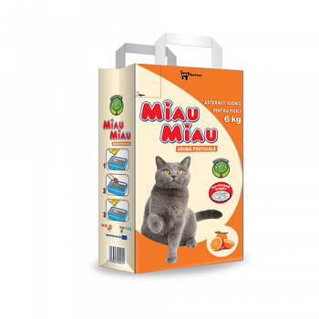 Nisip Miau Miau Clumping Orange, 6 kg