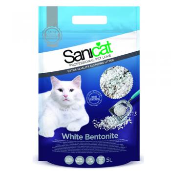 Asternut Igienic Sanicat White Bentonite 5 litri