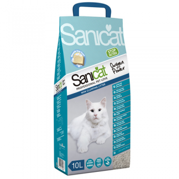 Nisip Sanicat Clumping Oxygen Power, 10 L