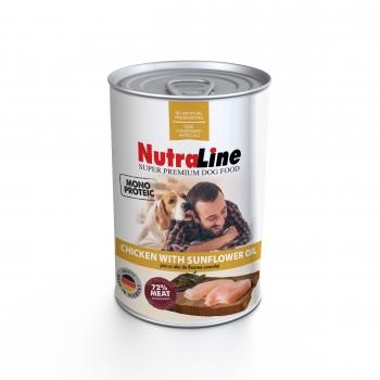 Nutraline Dog Adult Monoprotein cu Pui si Ulei de Floarea-Soarelui, 400 g