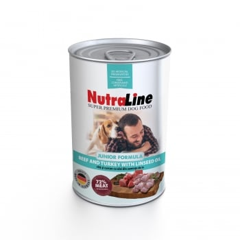 NUTRALINE DOG JUNIOR CU VITA/CURCAN SI ULEI DE IN 800 G