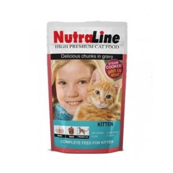 Nutraline Cat Plic Classic Kitten 100 g imagine