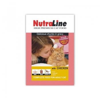 Nutraline Cat Plic Classic Pui 100 g imagine