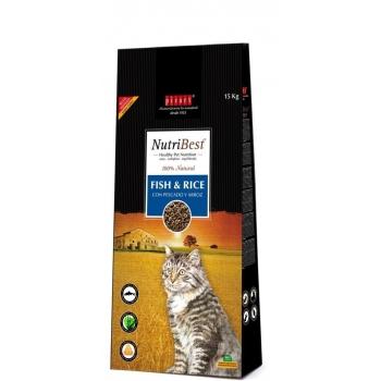Nutribest Cat Peste si Orez 15 kg