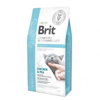 Brit Grain Free Veterinary Diets Cat Obesity 5 kg imagine