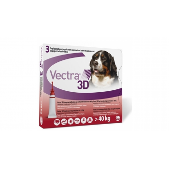 Vectra 3D Dog, +40 kg, 3 pipete