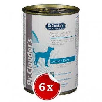 Pachet 6 Conserve Dr. Clauder's Diet Dog Hepatic, 400 g