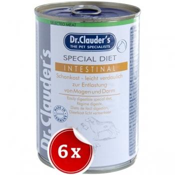 Pachet 6 Conserve Dr. Clauder's Dog Intestinal, 400 g imagine