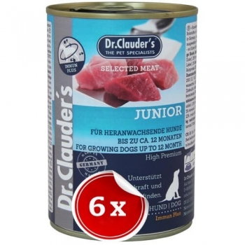 Pachet 6 Conserve Dr. Clauder's Selected Meat Junior, 800 g