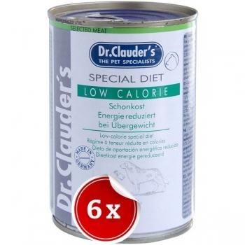 Pachet 6 Conserve Dr. Clauder's Diet Dog Low Calorie, 400 g imagine