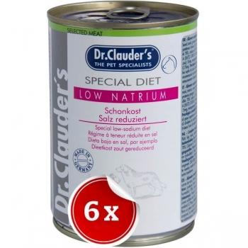 Pachet 6 Conserve Dr. Clauder's Diet Dog Low Natrium, 400 g