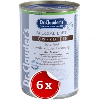 Pachet 6 Conserve Dr. Clauder's Diet Dog Low Protein, 400 g