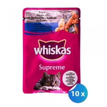 Pachet Plicuri Whiskas Supreme Sardine 10 x 85 g