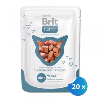 Pachet Plicuri Brit Care Cat cu Ton 20 x 80 g
