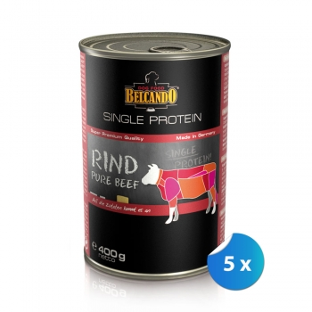 Pachet Conserve Belcando Single Protein Vita 5 x 400 g