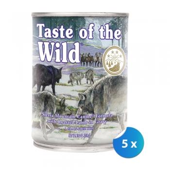 Pachet Conserve Taste of The Wild Sierra Mountain, 5 x 390 g