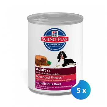 Pachet Conserve Hill's SP Canine Adult cu Vita 5 x 370 g