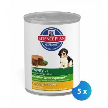 Pachet Hill's SP Canine Puppy cu Pui 5 x 370 g