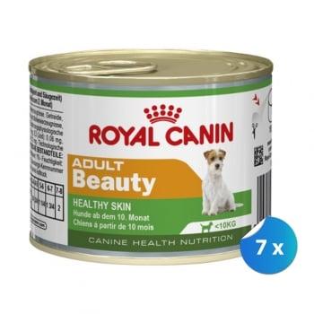 Pachet Royal Canin Mini Adult Beauty 7 x 195 g