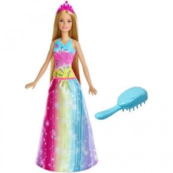 Papusa Barbie Gama Printese Papusa Cu Accesoriu Perie