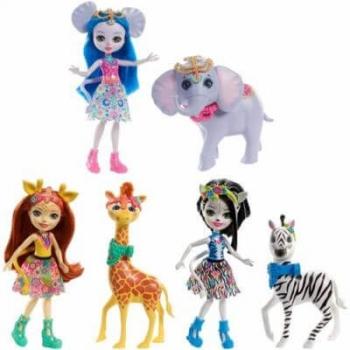 Papusa Enchantimals Cu Animalut Personaj Diverse Modele