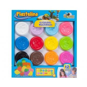 Pasta De Modelat Plastelino 12 Culori, 340G