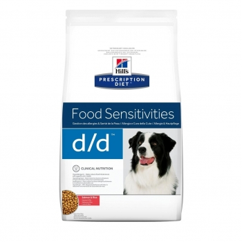 Hill's PD Canine d/d cu Somon si Orez, Alergii la Mancare, 2 kg