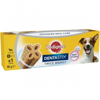 Pedigree C&T DentaTWICE Weekly Mini, 1 bucata