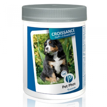 Pet Phos Croissance Ca/ P = 2, Special Grand Chien, 100 Tablete