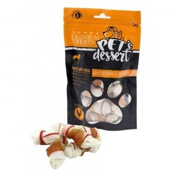 Pet's Dessert Knoted Bone&Chicken, 500 g