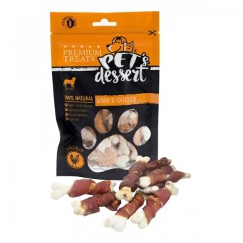 Recompense Pet's Dessert, Pentru Caini, Bone&Chicken, 80 g