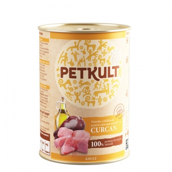 Petkult Adult Dog Curcan 12x800 g imagine