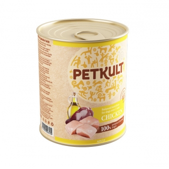 Petkult Adult Dog Pui 800g imagine